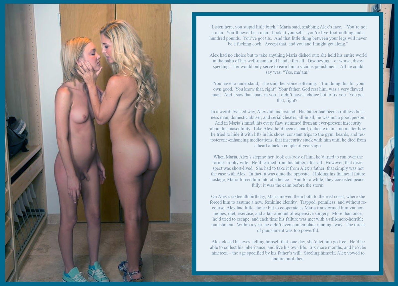 Theres erotic stories of sissyfication love