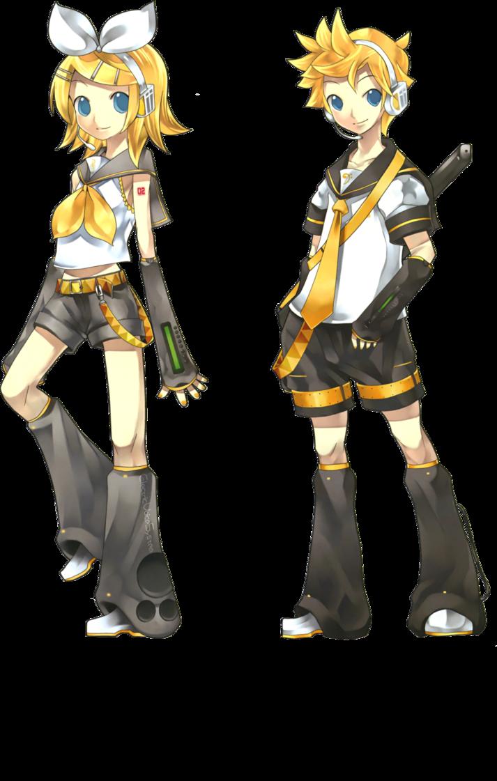 Render - Kagamine Twins by holichii on DeviantArt