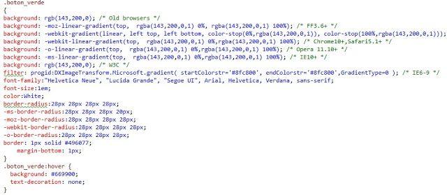 VBpuntoNet: Utilización de hojas de estilo CSS
