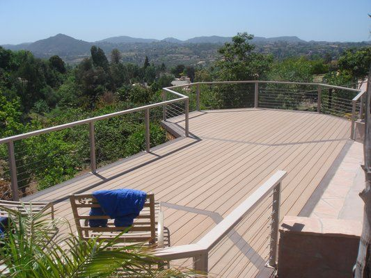 Trex Octagon Deck with Cable Rail | Deck, Cable railing