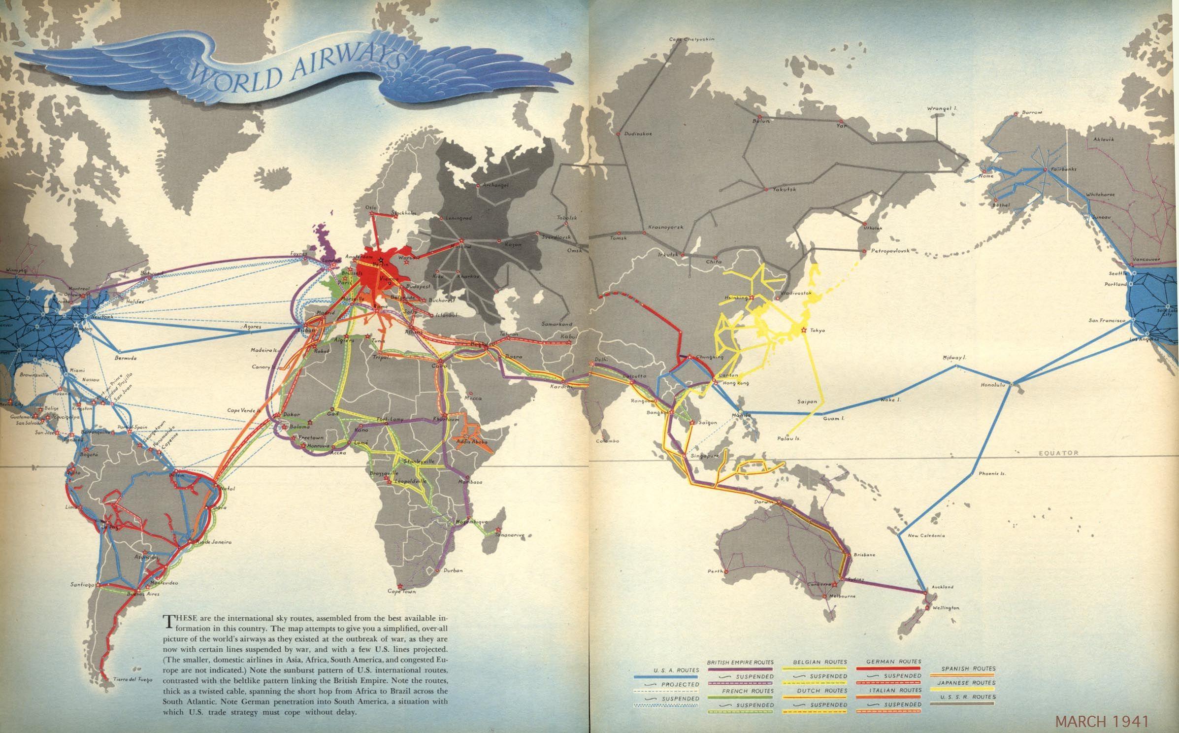 Boris Artzybasheffu0027s Worldu0027s airways Fortune Magazine ca