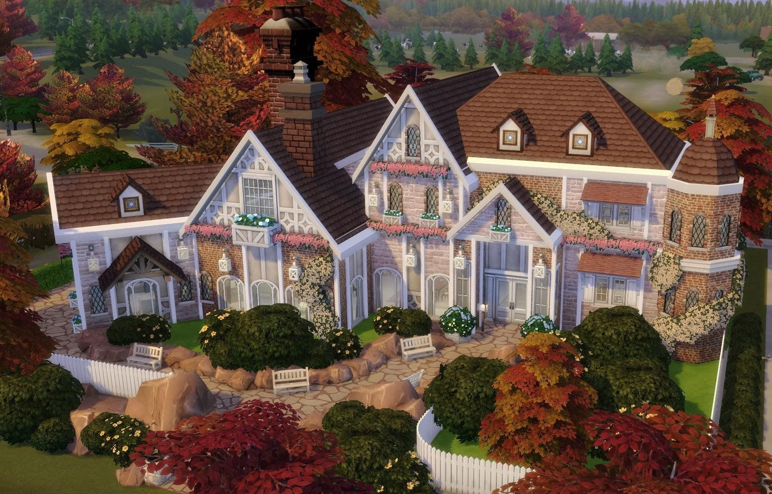 A suburban home I built for my Sims