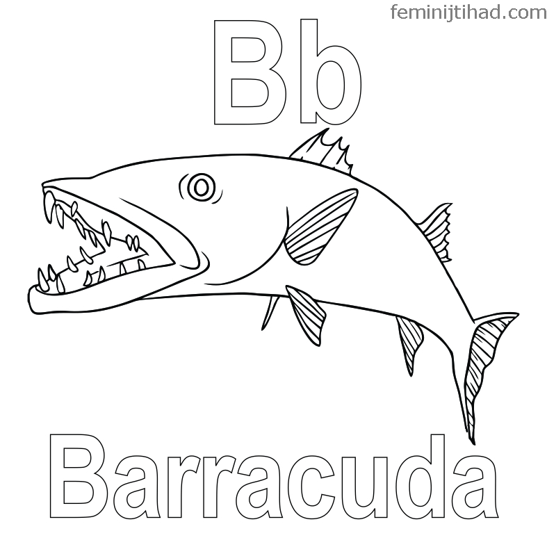 Printable Barracuda Coloring Pages Free Coloring Sheets Coloring Pages Animal Coloring Pages Fish Coloring Page