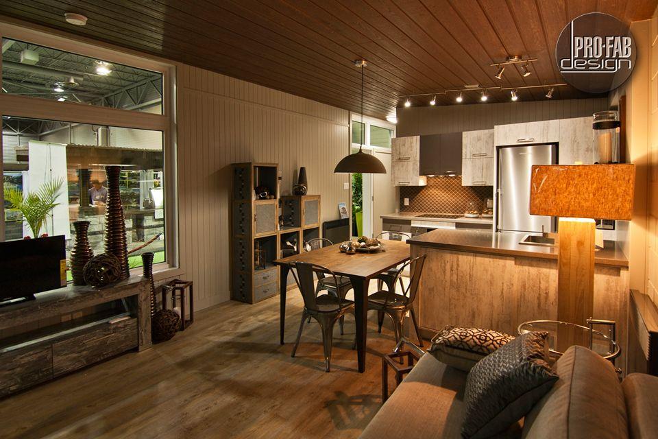 Pro fab constructeur de maisons modulaires usin es pr fabriqu es mod le eldorado chalet - Constructeur maison modulaire ...