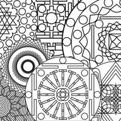 A Sample From The Mandala Coloring Book