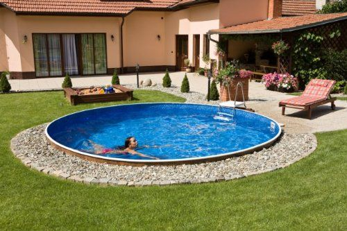 Swimming Pool Kit 12ft Round Azuro Pools Http Www Amazon Co Uk Dp B00b6ssiqs Ref Cm Sw R Pi D Outdoor Pool Decor Swimming Pools Backyard Small Backyard Pools