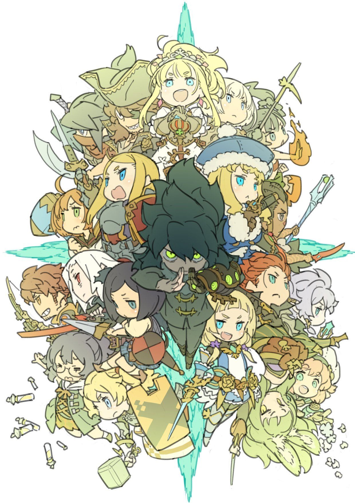 Iョ向悠= on Etrian odyssey, Character design, Cute anime