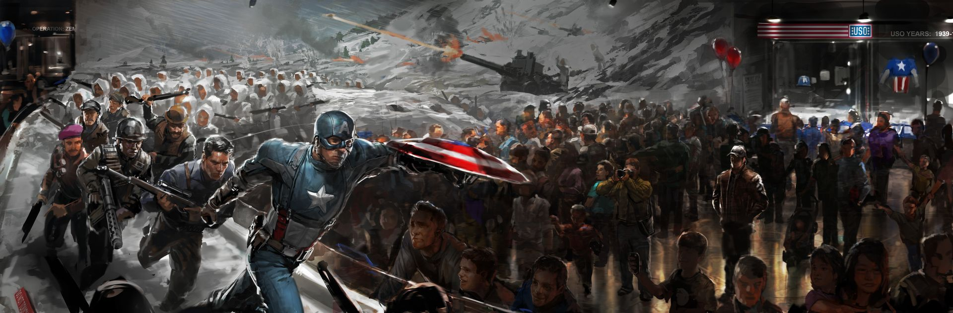 Captain America The Winter Soldier Museum concept art