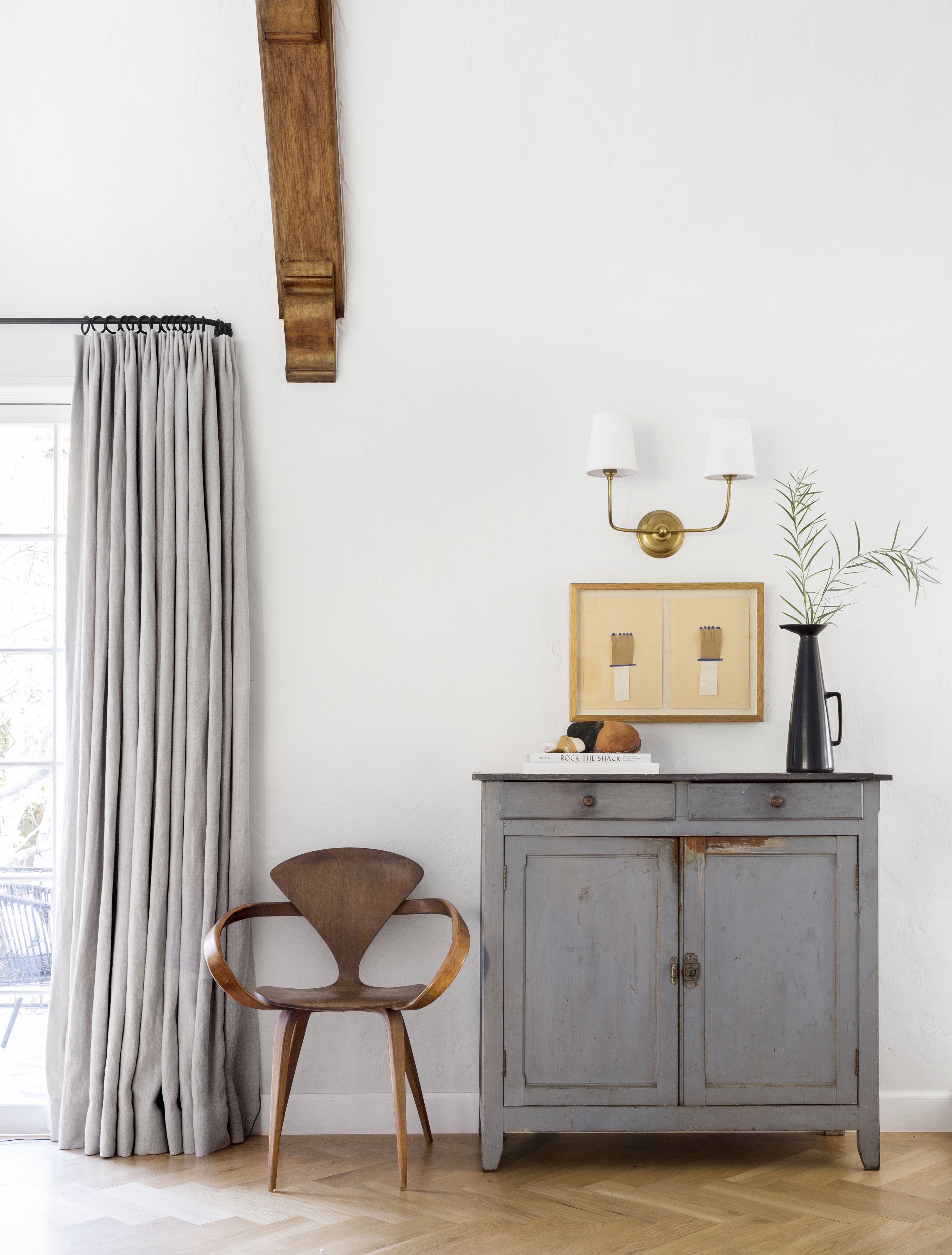 credenza styling - antique and clean
