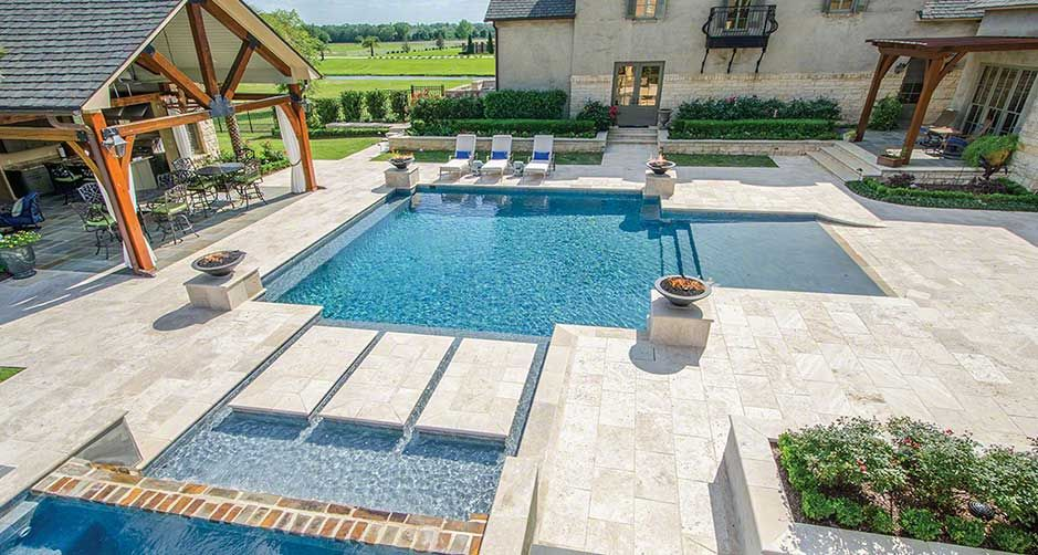Tuscany Beige Pool Copings Are Crafted From Natural