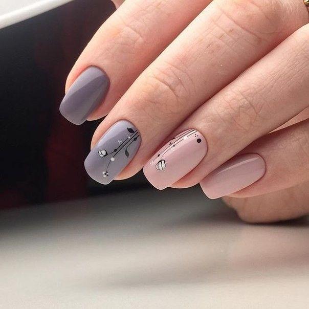 Два цвета дизайн ногтей
