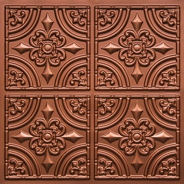 "Decorative Plastic Ceiling Tiles Alluring Wrought Iron  Faux Tin Ceiling Tile  Glue Up  24""x24""  #205 Design Decoration"