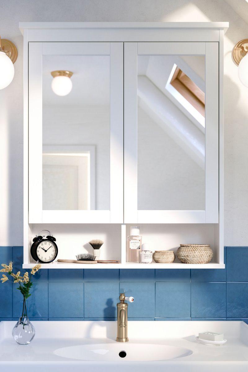 Hemnes Spiegelschrank Weiss In 2020 Spiegelschrank Badezimmer Spiegelschrank Bad