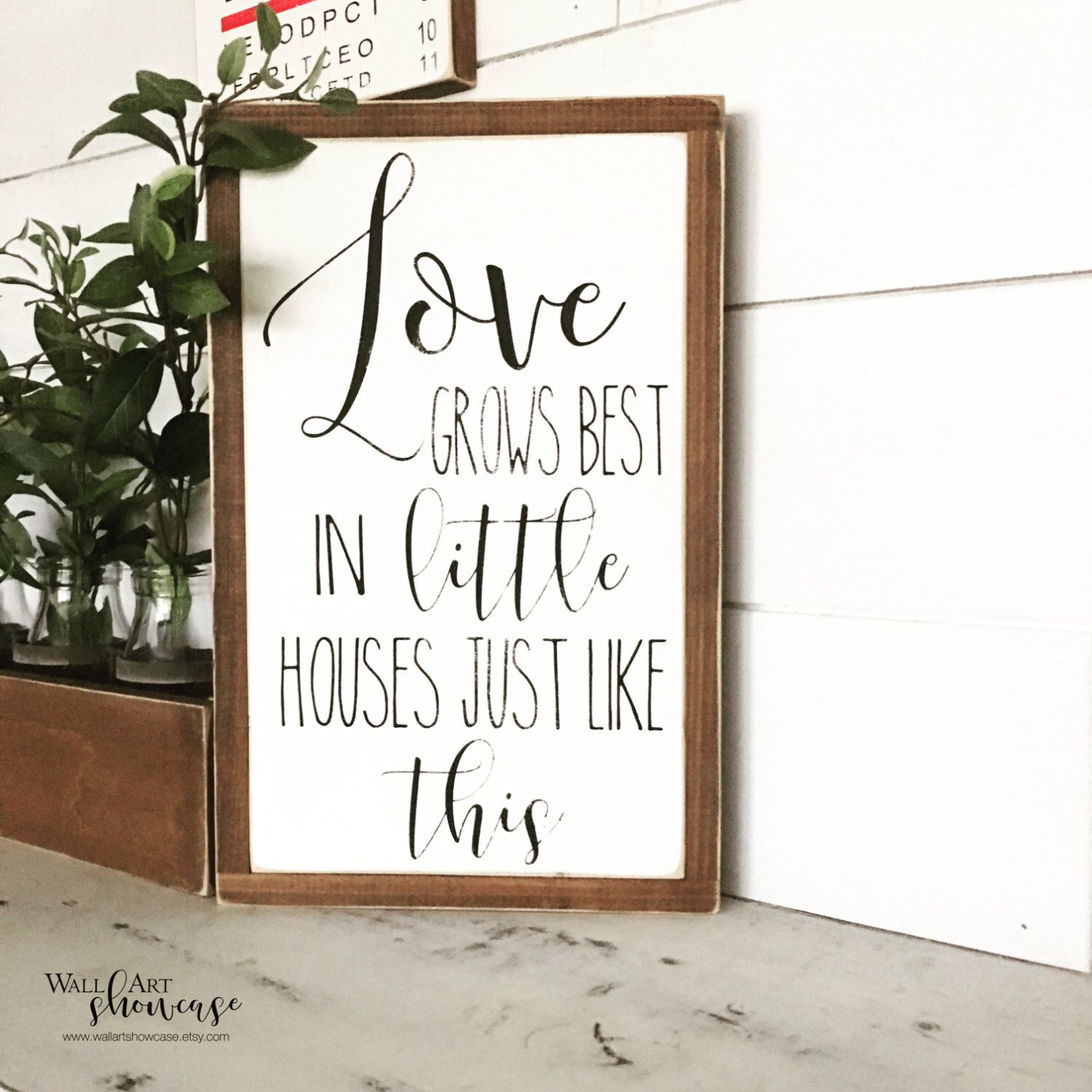 Love grows best in little houses painted wood sign - Wood sign - Distressed Rustic Antiqued sign Decor - Wall Decor - Wall Art by WallArtShowcase on Etsy https://www.etsy.com/listing/506572999/love-grows-best-in-little-houses-painted