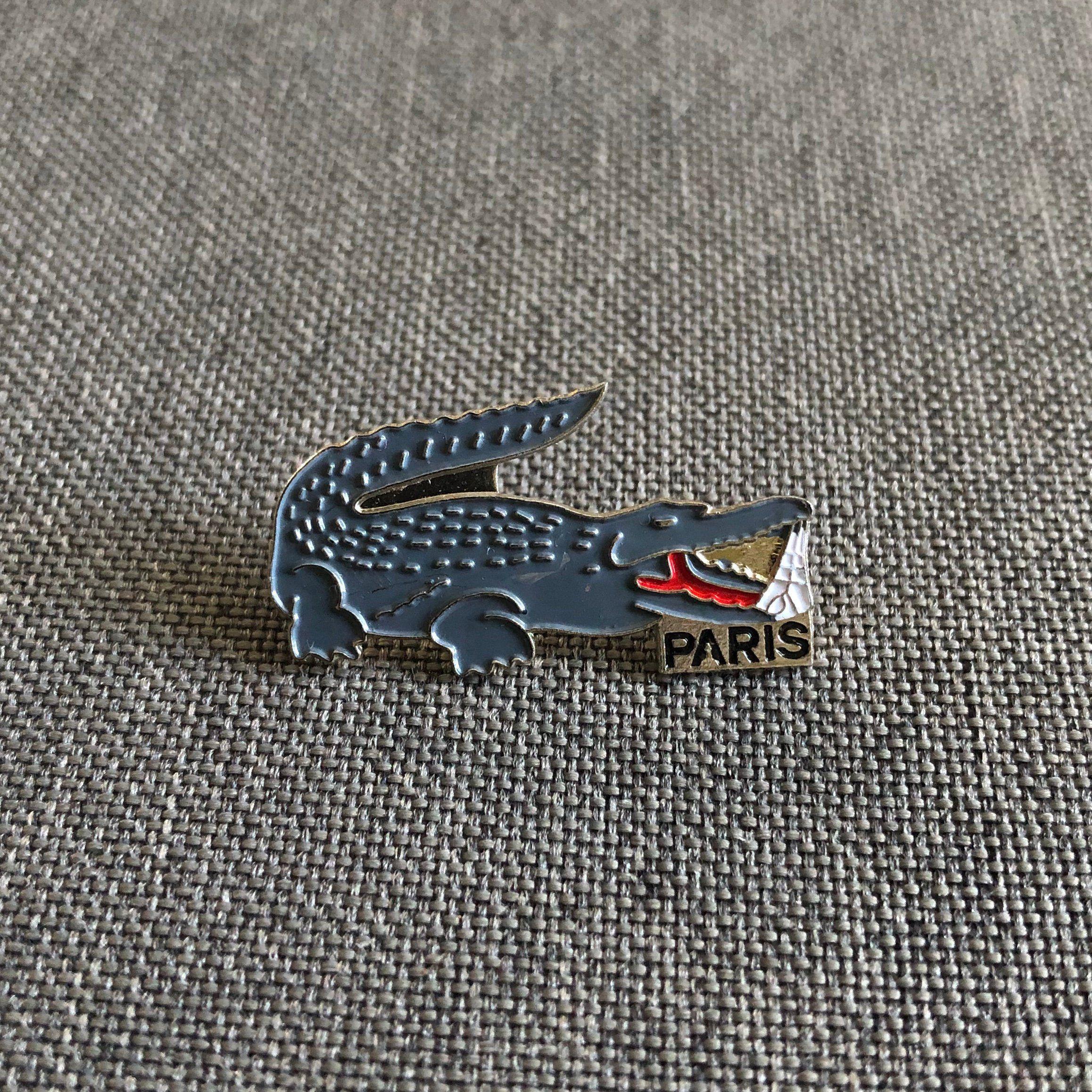 Vintage Enamel Pins Worldwide Shipping Vintage Lacoste Crocodile Paris Enamel Pin Badge French Desig Enamel Pin Badge Vintage Pins Enamel Pins