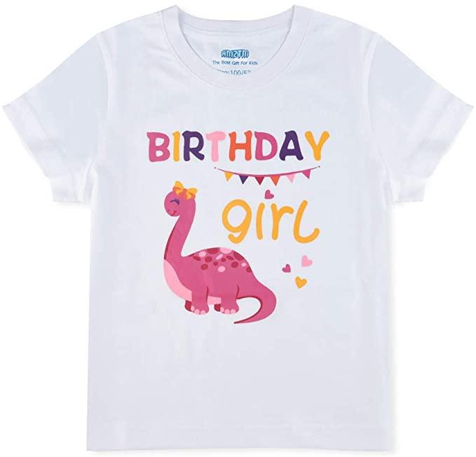 1st Birthday Party Dino B-Day Boys Tee Gift AMZTM Dinosaur Birthday T Shirt