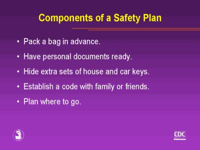 Safety Plan  Domestic Violence Safety Support And Information