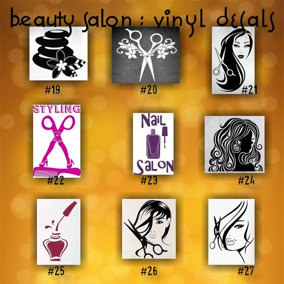 BEAUTY SALON vinyl decals pages 1 4 by CreativeStudio805 on Etsy ...