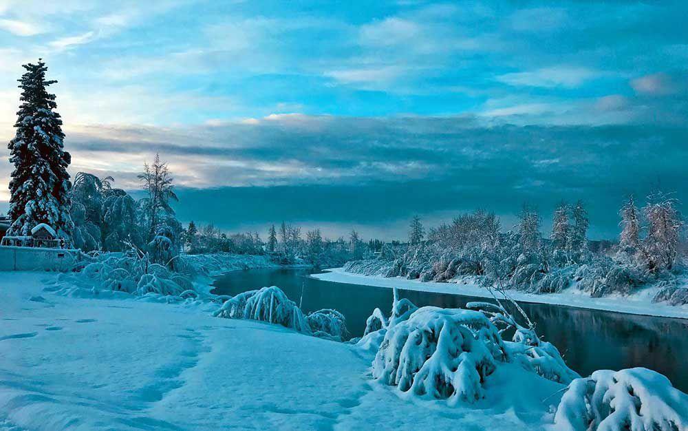January blues Alaska, Denali national park, Karelian