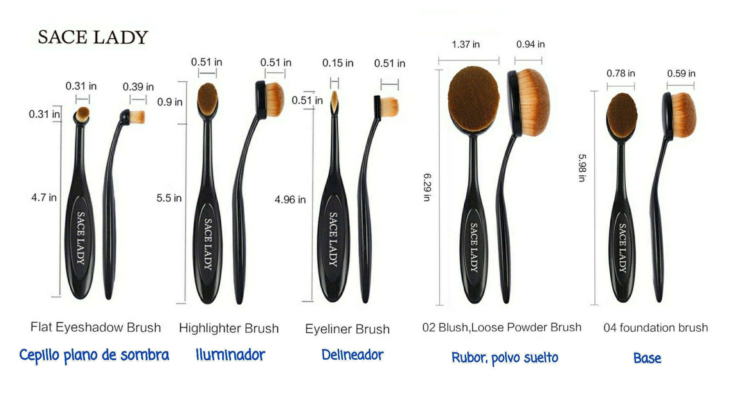 fc2921658 Uso de brochas ovaladas   Maquillaje in 2019   Brochas de maquillaje ...
