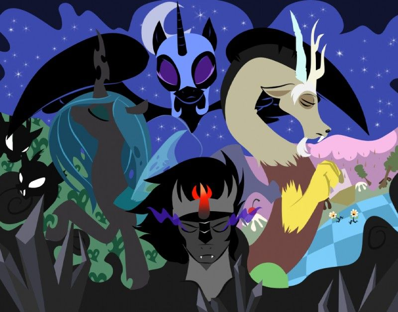 Queen Chrysalis And King Sombra Nightmare Moon, Discor...