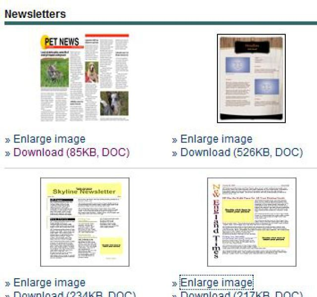 Free Newsletter Templates for Print and Web - newsletter templates free microsoft word