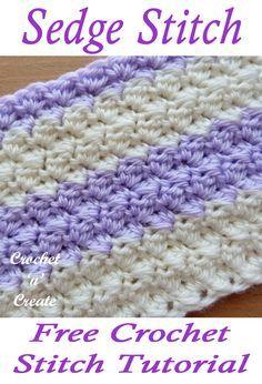 Crochet Sedge Stitch Free Crochet Tutorial