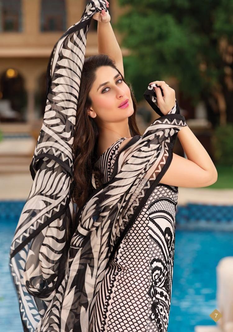 kareena kapoor for faraz manan's crescent lawn collection