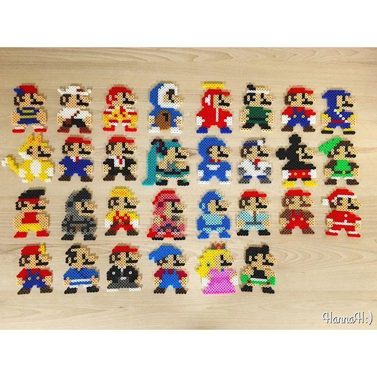 Super Mario mashup perler beads by  hannah