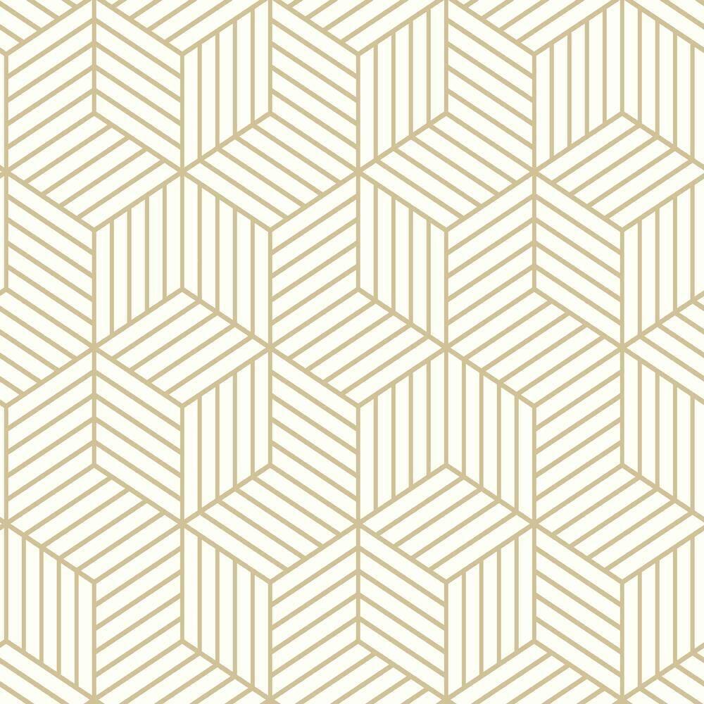 Striped Hexagon Peel and Stick Wallpaper in 2020 Peel