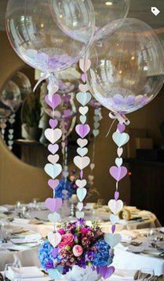 globos transparentes para centros de mesa