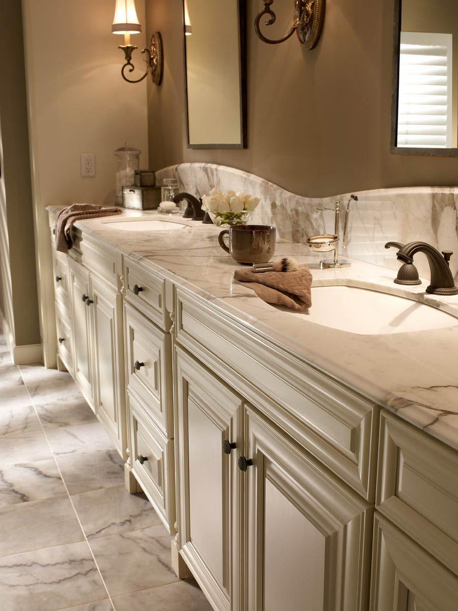 Waypoint Living Spaces Cream Bathroom Bath Cabinets Bathroom
