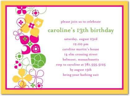 awesome Please Do Not Copy My Post And Duplicate Birthday Party – Invitations for 13th Birthday Party