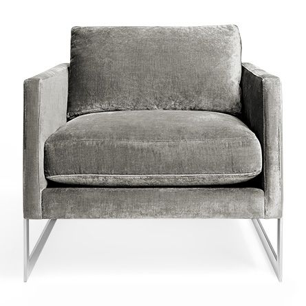 """Upholstered Chairs For Living Room corso 32"""" upholstered chair with chrome polished frame in brussels"""