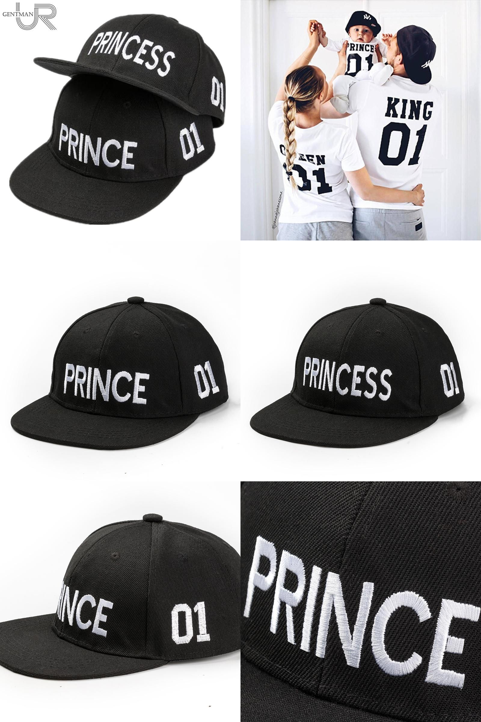 be98a06de08  Visit to Buy  Hot Sale PRINCE PRICESS Embroidery Snapback Hat Acrylic Boys  Girls Baseball