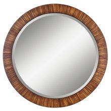 View the Uttermost 13554 B Jules Beveled Round Mirror With Antiqued Finish Frame at LightingDirect.com.