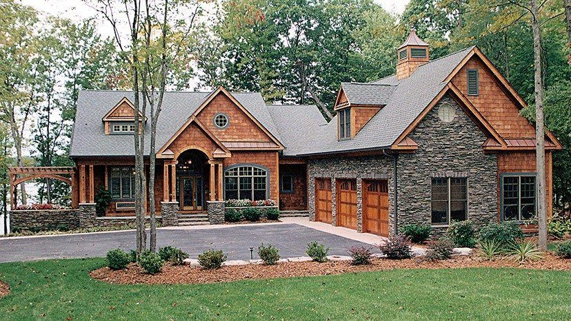 Lakefront House Plans With Walkout Basement Unique Lakefront House Plans With Walkout Craftsman Style House Plans Basement House Plans Modern Farmhouse Plans
