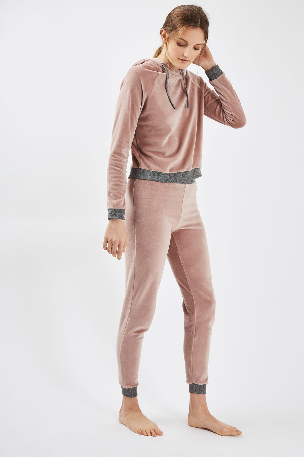 Nude Velour Loungewear Joggers - New In- Topshop Europe
