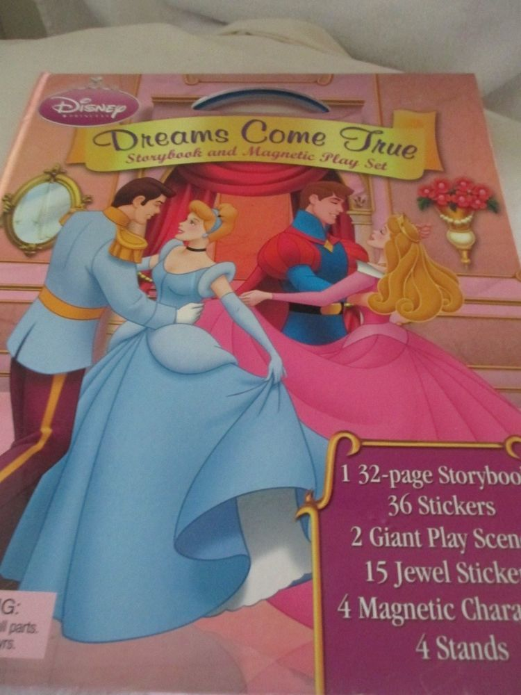 Disney Princess Dreams Come True Storybook And Magnetic Playset