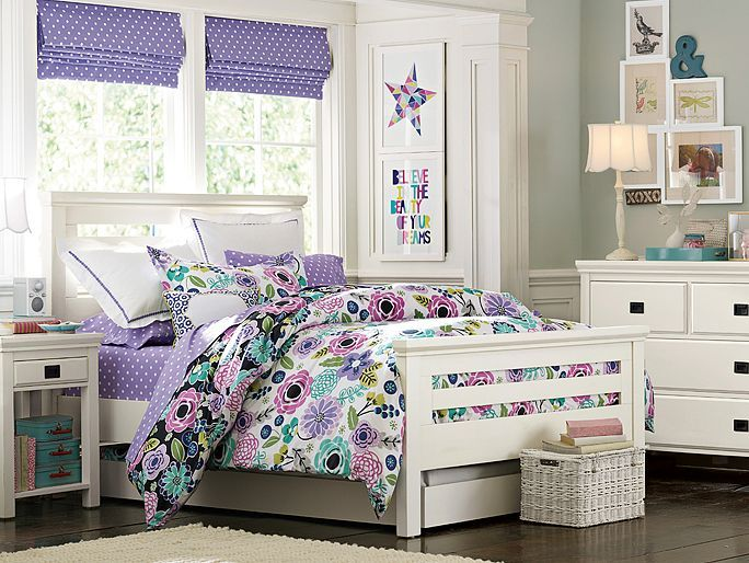 Pb Teen Girl Bedding: I Love The PBteen Oxford Abby Floral Bedroom On Pbteen.com