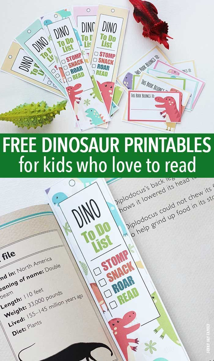 Free Dinosaur Printables For Kids Who Love to Read | Kids dinosaurs ...