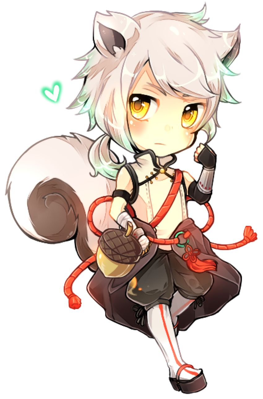 Risu By Kei Yo On Deviantart Cute Anime Chibi Chibi Anime Fox Boy