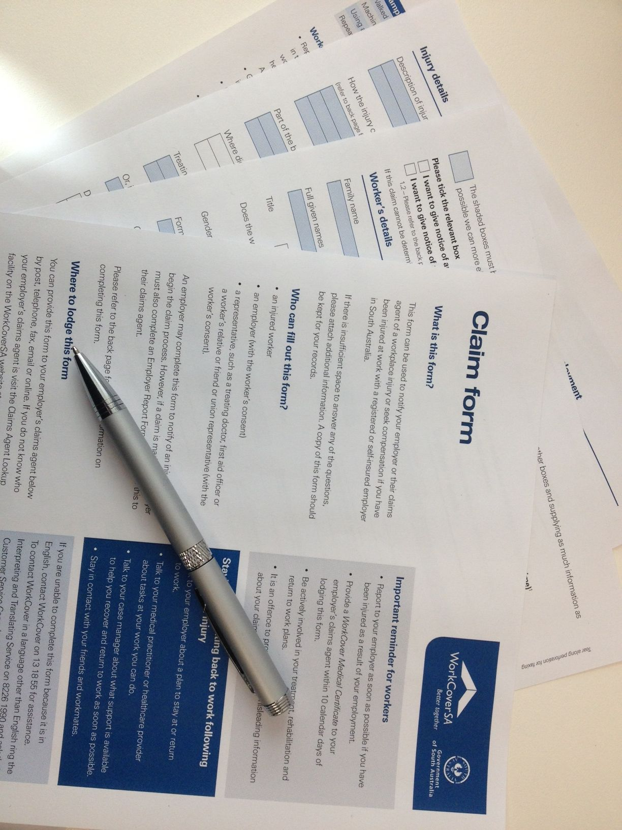 10 tips for filling out a WorkCover Claim Form http//www