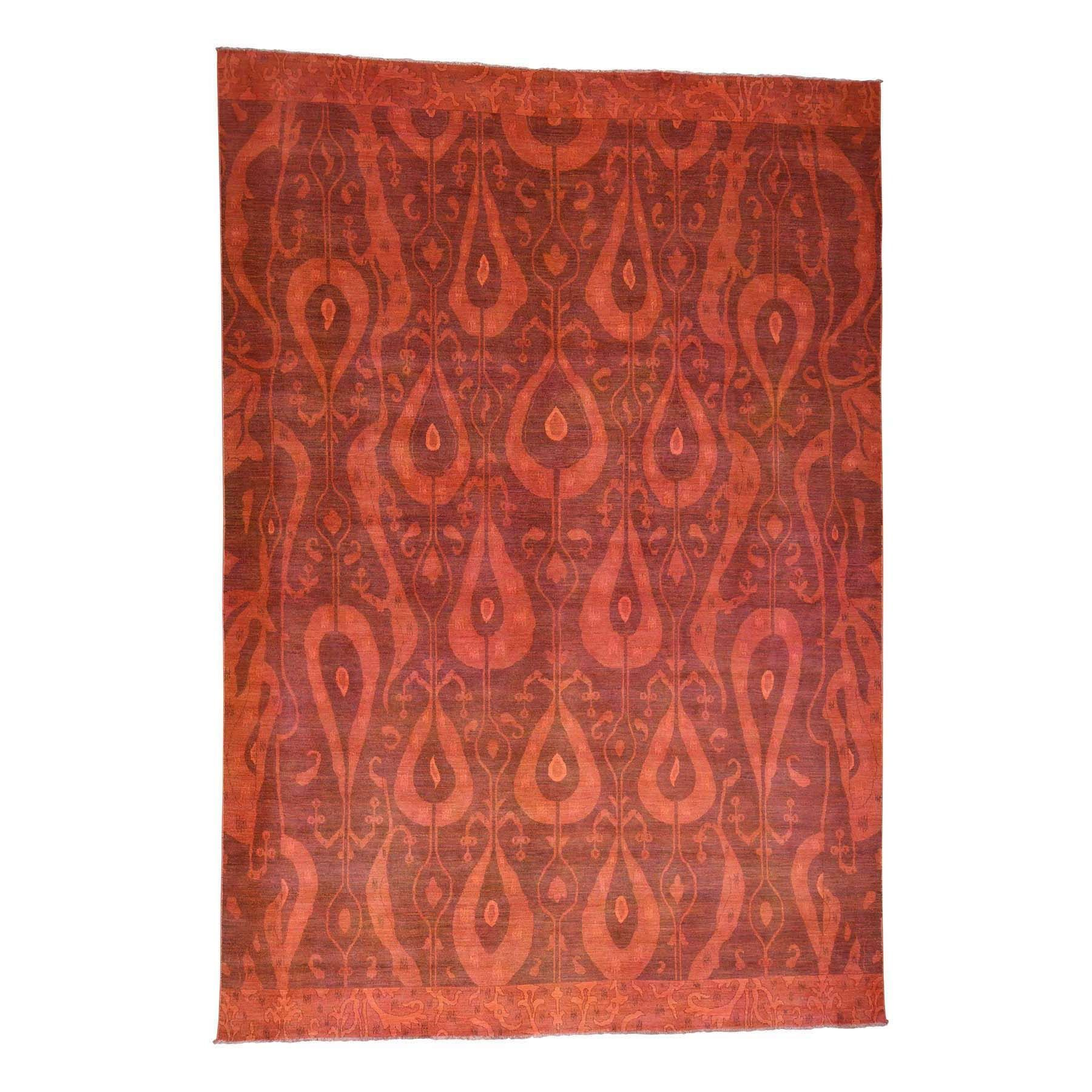 1800getarug Hand-knotted Overdyed Ikat 100-percent Rug