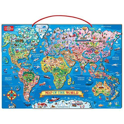 ts shure wooden magnetic world map puzzle ts shure httpwwwamazon