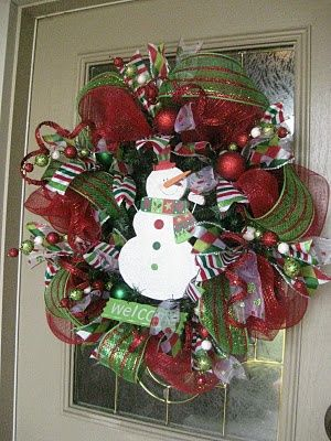 Christmas Mesh Wreath Tutorial! So adorable! Hobby Lobby here I come