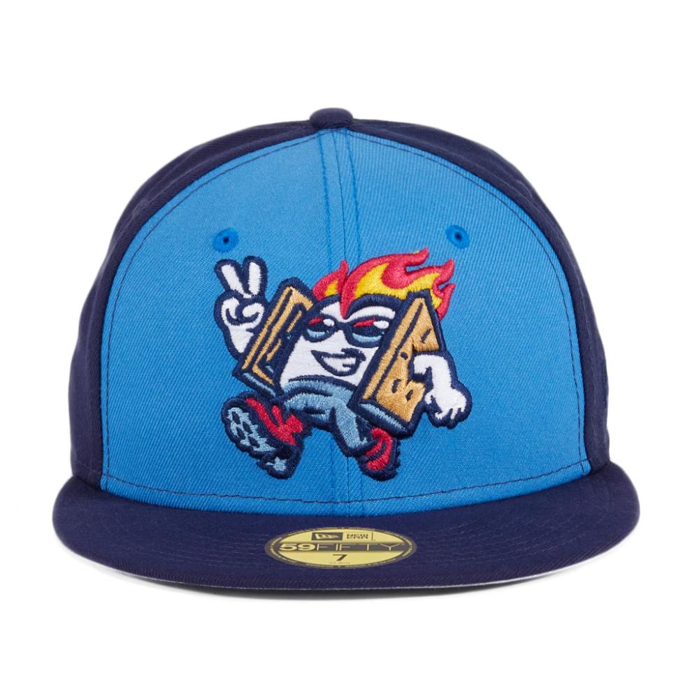 Exclusive New Era 59fifty Rocky Mountain Vibes Hat Light Blue Navy Hat Club New Era 59fifty Mountain Vibes New Era