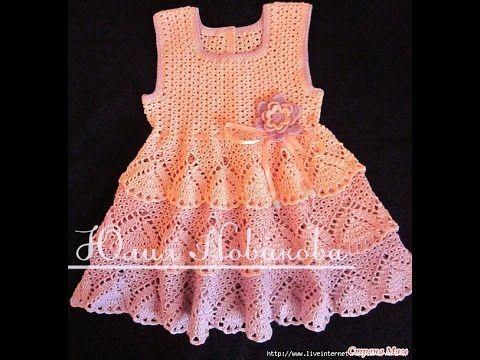 Crochet Patterns For Free Crochet Baby Dress 578 Nias Crochet