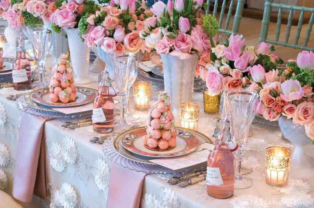 Spring Wedding Table #springfling #spring #cocktail #wedding #bbjlinen #bbjtablefashions