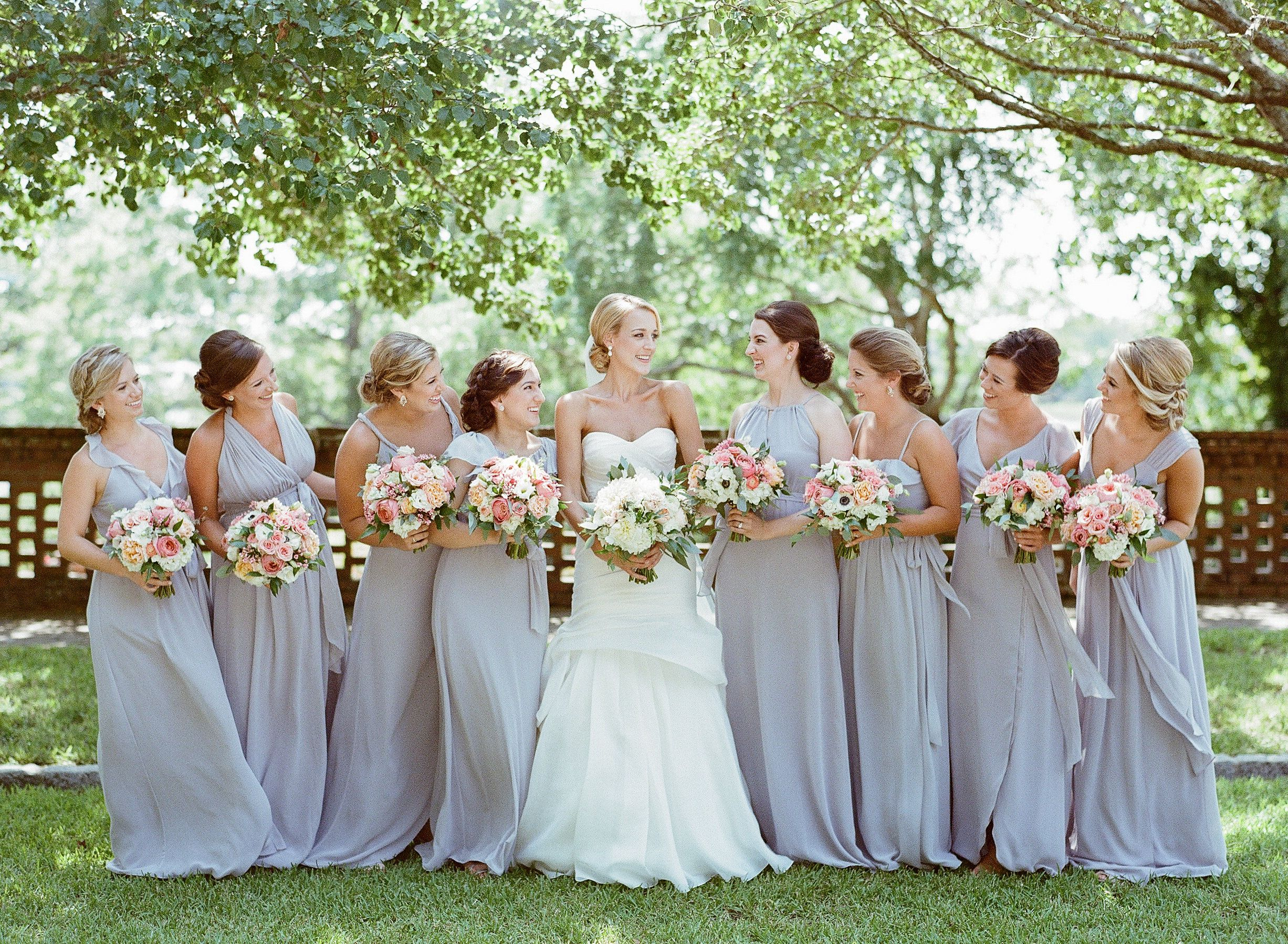 Joanna august real weddings silver bells photo by austin joanna august real weddings silver bells photo by austin stinson with blueberry grey bridesmaidsgrey bridesmaid dressesblue ombrellifo Gallery